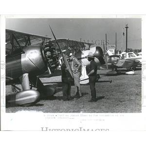 1981 Press Photo Antique Planes Lined Up For Inspection