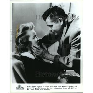 1989 Press Photo Glenn Ford and Anne Francis in Blackboard Jungle, a 1955 film.