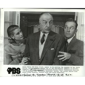 1979 Press Photo Grace Kelly, Bing Crosby and Louis Calhern in High Society.