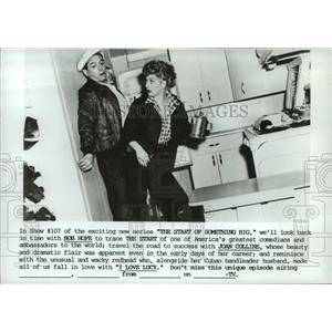 1985 Press Photo Lucille Ball and Desi Arnaz on I Love Lucy. - spp06580