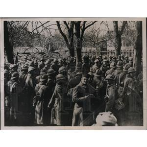 1936 Press Photo Moroccan Troops Stationed at Strasbourg Frontier - nem38211