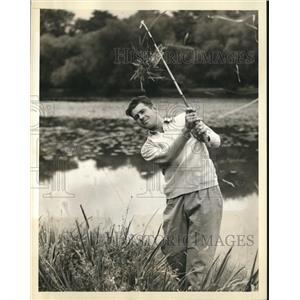 1936 Press Photo Roger S. Peacock at National Amateur Golf Championship