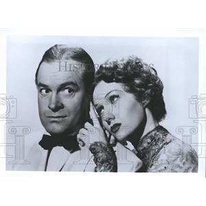 1991 Press Photo Bob Hope and Rhonda Fleming in The Great Lover, a 1949 film.