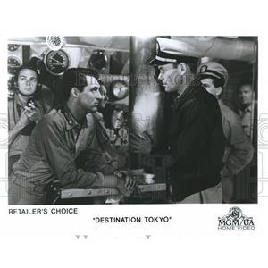 1990 Press Photo Cary Grant stars in Destination Tokyo, a 1943 film. - spp17106