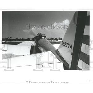 1987 Press Photo Susan Q restored US army 1943 plane.