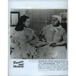 1986 Press Photo Vivien Leigh and Hattie McDaniel in Gone with the Wind, 1939.