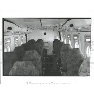 1987 Press Photo CASA C-212 Passenger Aircraft Chicago