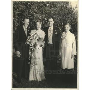 1935 Press Photo Actor Charles Sale acted as best man to sister wedding.