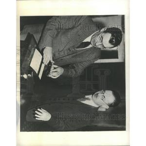 1934 Press Photo Rochester Police Fingerprints Campaign - RRX95441