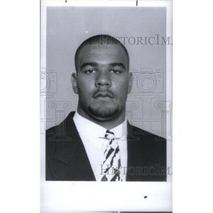 1991 Press Photo Chad Fox football player Kettering - RRX39695