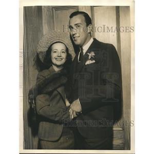 1937 Press Photo NY sportsman Daniel Topping weds actress Arline Judge