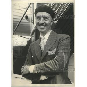 1930 Press Photo William Powell on the S.S. Conte Granda returned from Italy.
