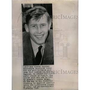 1954 Press Photo Roger Bannister Athlete Runner Chicago - RRW17935