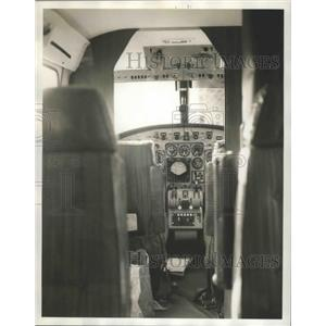 1964 Press Photo Tuscaloosa-University of Alabama's airplane cockpit.