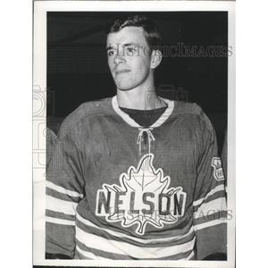 1970 Press Photo Nelson Maple Leafs hockey defenseman, Bryan Lefley - sps10730