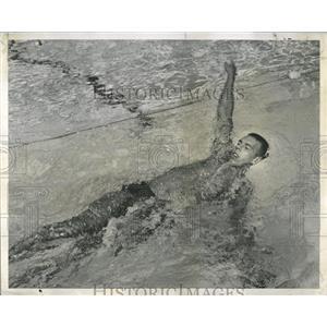 1959 Press Photo L.B. Schaefer Pan American Swimmer - RRW52187