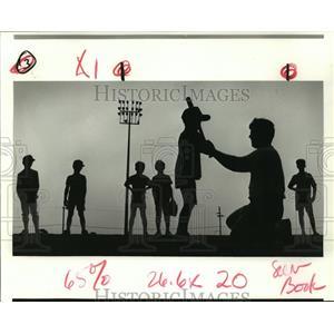 1988 Press Photo University of New Orleans Baseball Camp - Coach Dane Clement