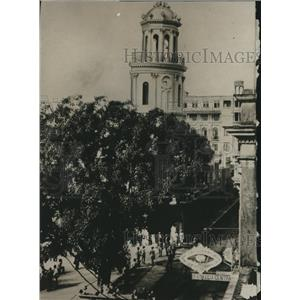 1930 Press Photo Santo Domingo City Hall and Clock in the Dominican Republic