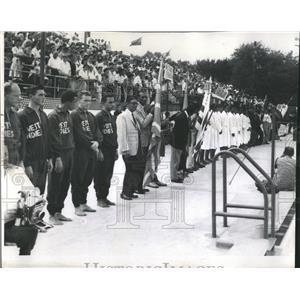1958 Press Photo Pan American Games Swimming - RRW52173