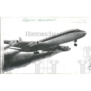 1969 Press Photo Douglas Aircraft's First DC8 Jet Plane