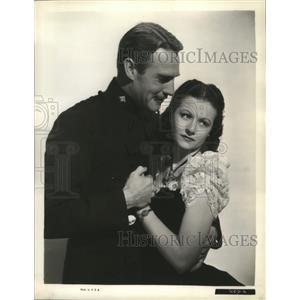 "1939 Press Photo Randolph Scott, Margaret Lockwood ""Susannah of the Mounties"""