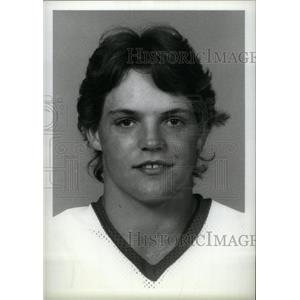 1983 Press Photo Joe Kocur Detroit Red Wings Draft pick - RRX39487