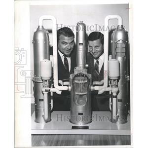 1967 Press Photo Model Nuclear Power Plant Joel George - RRX88303