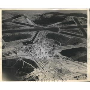 1940 Press Photo Aerial View of New Washington Airport Dedicated By President