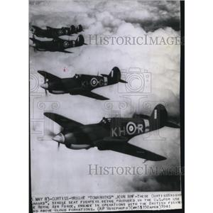 "1941 Press Photo Curtiss Wright ""Tomahawks"" joins Royal Air Force - spw12727"