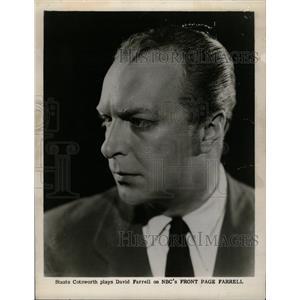 1952 Press Photo Staats Cotsworth American Actor - RRW19789