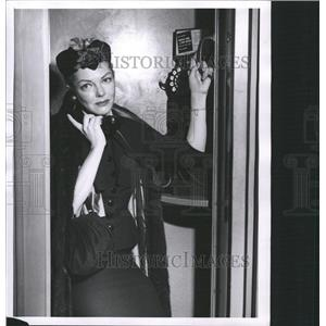 1956 Press Photo Vivian Blaine Actress - RRW33537
