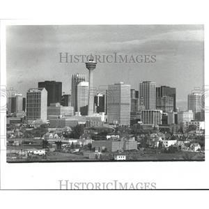 1981 Press Photo Skyline of Calgary, Alberta, Canada - hca01276