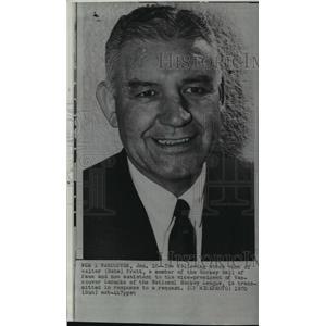 1970 Press Photo Walter (Babe) Pratt, Hockey Hall of Fame, smiles in stock photo