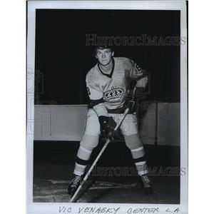 1975 Press Photo Los Angeles Kings center Vic Venasky - sps14051