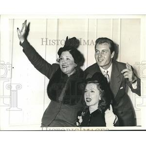 1941 Press Photo Actress Louella Parsons, Ann Rutherford & George Montgomery