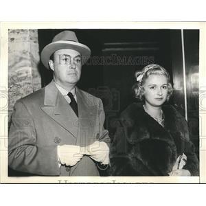 1937 Press Photo Screen Writer Gene Markey and Actress Joan Bennett divorced