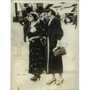 1934 Press Photo Paris Mrs Paul Codos, Mrs Paul Rossi wives of famous aviators