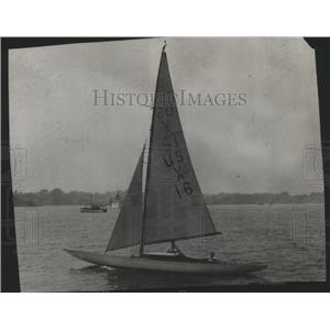 """1929 Press Photo C.A. Welch's """"Yankee"""" at the International Yacht Race"""