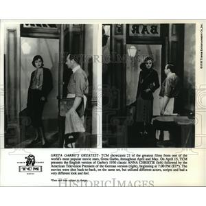 "1930 Press Photo Greta Garbo in American and German version, ""Anna Christine"""