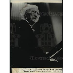 "1939 Press Photo Ignaz Jan Paderewski in ""Moonlight Sonata"" - spp64290"