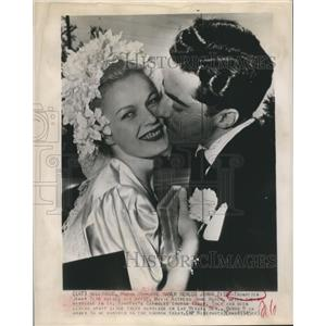 1945 Press Photo June Haver reweds trumpeter Jimmy Zito in Hollywood - sbx07894
