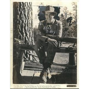 Press Photo Fred MacMurray in The Trail of the Lonesome Pine set in Calif