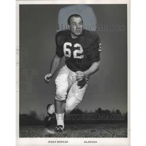 1966 Press Photo University Of Alabama Football Offensive Lineman Jerry Duncan