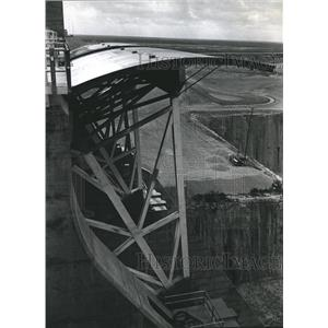 1970 Press Photo View from top of Amistad Dam, Texas - hca02961