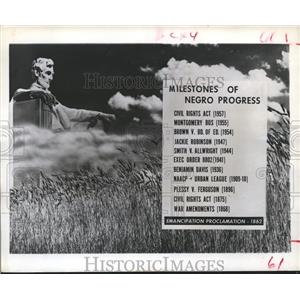 1962 Press Photo Major Milestones, Emancipation Proclamation - hca03928