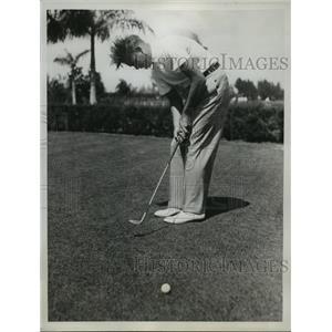 1935 Press Photo Orville White at 9th Annual International Four Ball Tournament