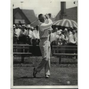 1932 Press Photo Golfer Eddie Williams - nes54524