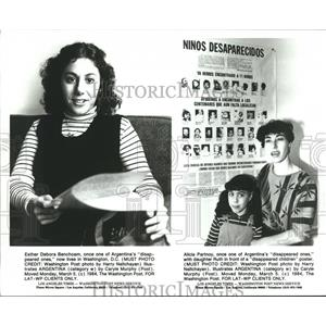 """1984 Press Photo These woman were once """"disappeared ones"""" in Argentina"""