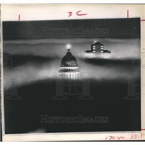 1973 Press Photo Salt Lake City's Landmarks engulfed in Smog - hca04223