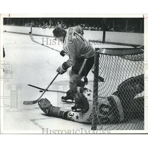 1974 Press Photo Houston Aeros, Blocking Goal - hca04267